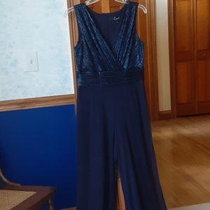 Elegant navy blue formal jumpsuit.  NWOT